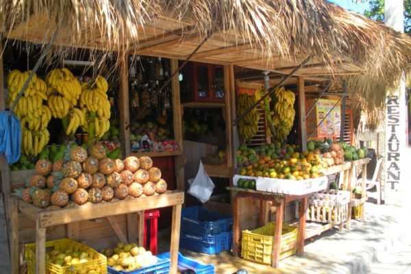 typical Dominican fruit stand